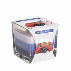 Tribarvne dišeče sveče v kozarcu
